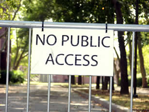 No Public Access (sign)