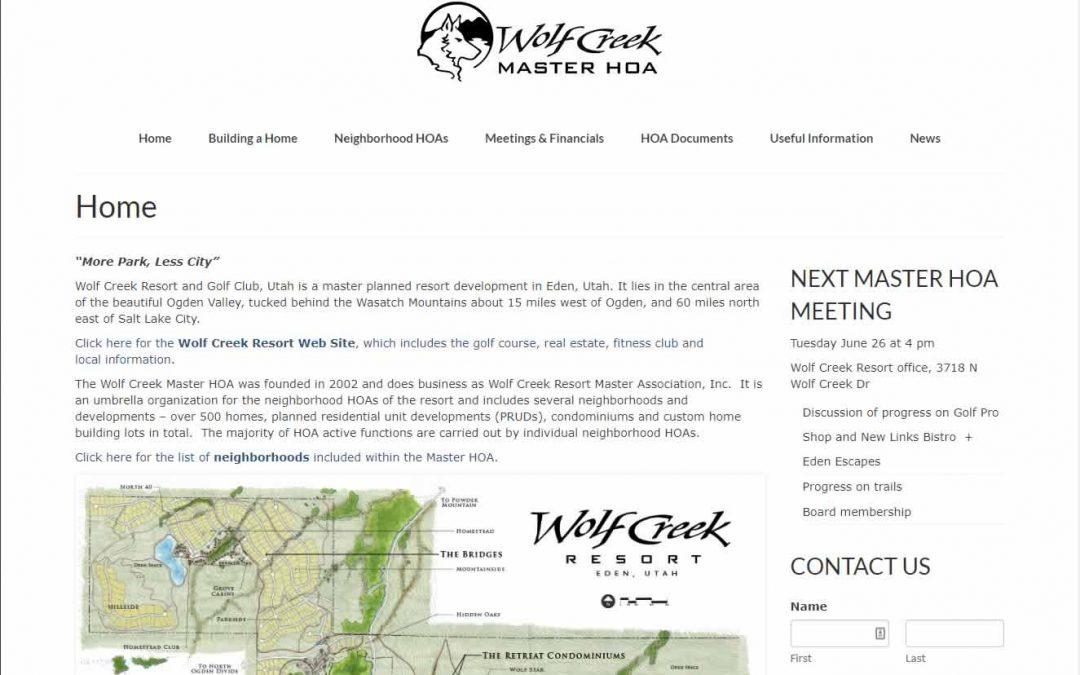 Wolf Creek Master Resort HOA